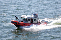 Our Coast Guard Escort into the closed Cleveland Harbor arrives