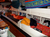 Four berths in the main cabin.