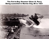 1921 Launch of the Steamer Oliver H. Perry