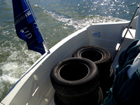 The tires being returned to Put-in-Bay