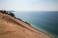 A typical view from the top of Sleeping Bear Dunes