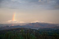 A Rainbow in Hayesville Just Before Sunset on March 23, 2012