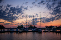 Sunrise at the Middle Bass Island State Park Marina